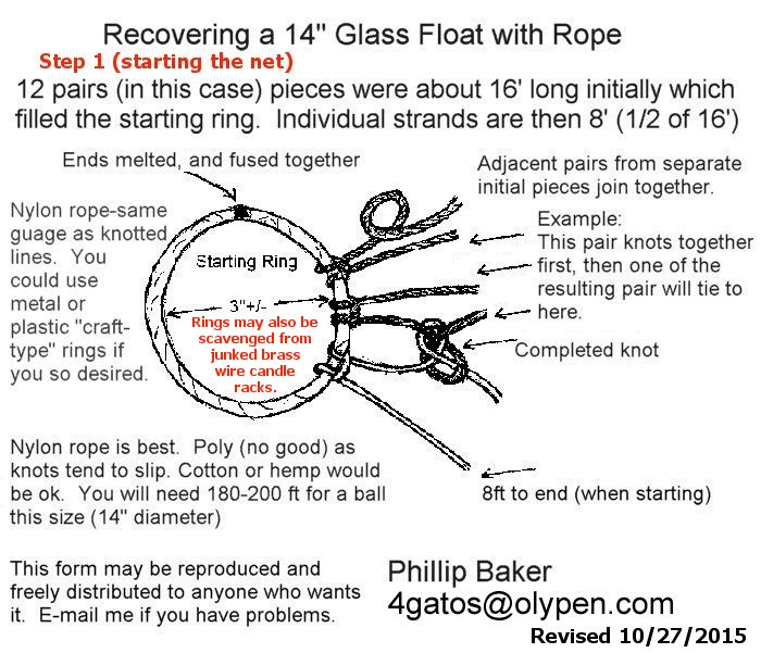 How do you weave japanese glass fishing float nets for Net making instructions