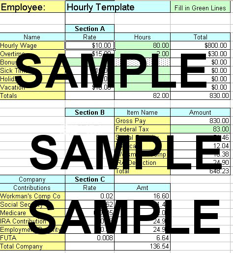 Doc1387503 Payroll Sheet Template Free Excel templates for – Excel Templates for Payroll